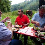 L'assiette ardennaise, le crémant, la bière locale, soft et dessert 20€/pers.